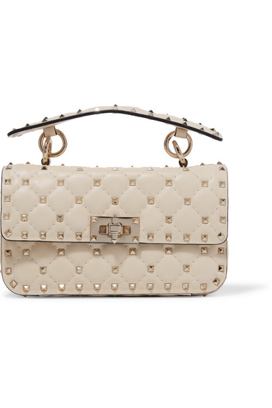 42a022dcaef Valentino. Valentino Garavani The Rockstud Spike small quilted leather shoulder  bag