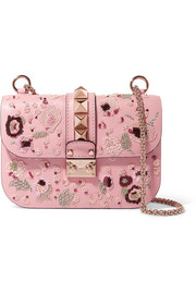 Valentino Lock medium embellished leather shoulder bag