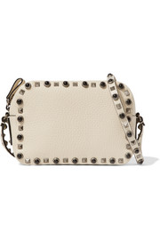Valentino The Rockstud medium textured-leather camera bag