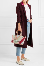 The Rockstud medium paneled suede and leather tote