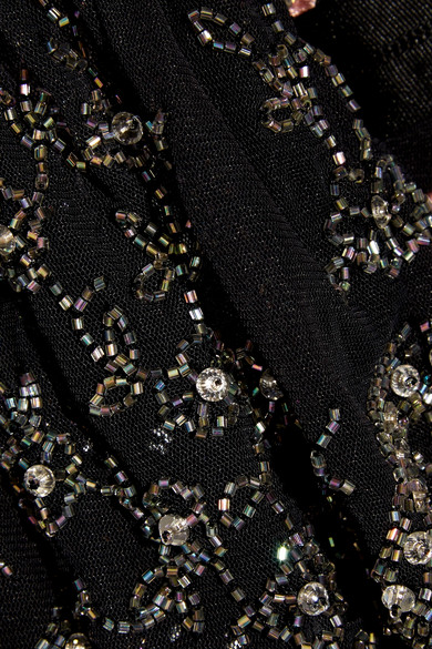 Needle & Thread Climbing Blossom verzierte Robe aus Tüll mit Stickereien