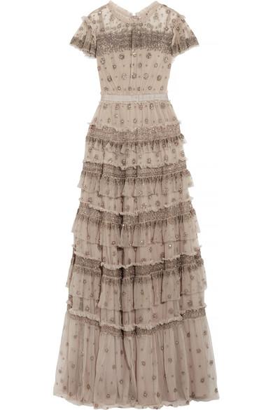 Needle & Thread Andromeda Robe aus Tüll mit Rüschen und Verzierungen