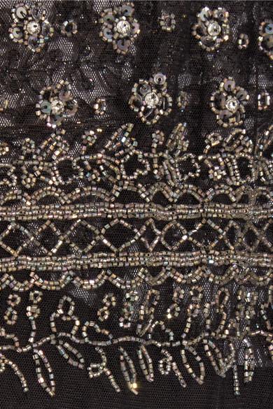 Needle & Thread Andromeda verziertes Oberteil aus Tüll mit Rüschen