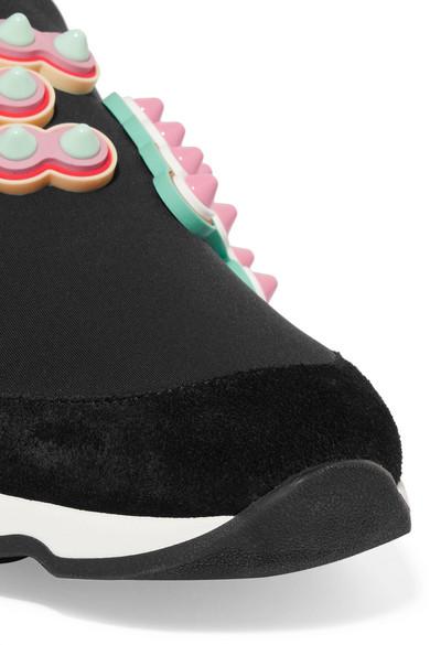 Fendi Sneakers aus Neopren mit Leder- und Velourslederbesatz und Logoverzierung Erkunden Zu Verkaufen Versandrabatt Authentisch Wählen Sie Eine Beste Verkauf Beliebt 9Gu8FYK