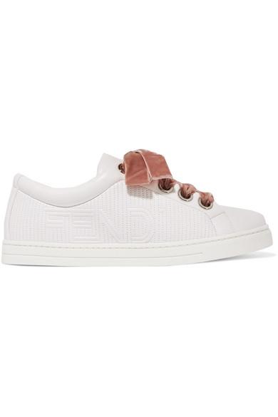 Fendi Sneakers aus Matelassé-Leder mit Logostickerei