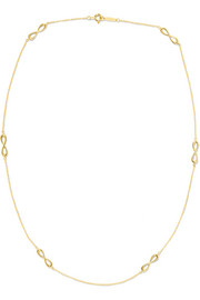 Infinity 18-karat gold necklace