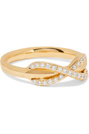 Infinity 18-karat gold diamond ring