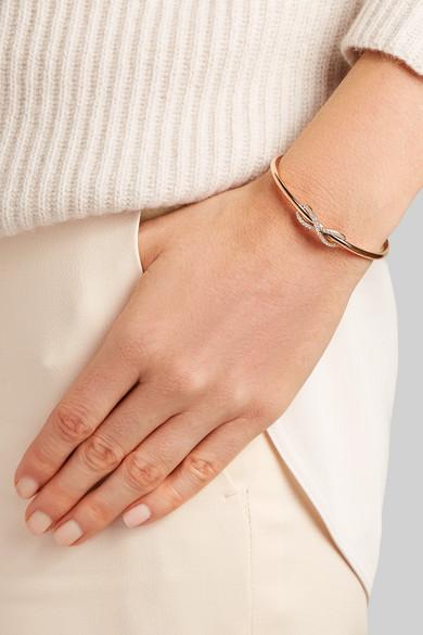 7b7fde9cb Tiffany & Co. | Infinity 18-karat rose gold diamond cuff | NET-A ...