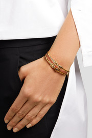 Infinity 18-karat gold diamond cuff