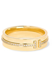 Tiffany & Co. 18-karat gold diamond ring