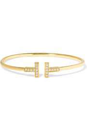 Tiffany & Co. T Wire 18-karat gold diamond bracelet