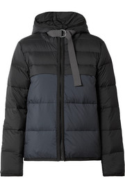 James Perse Two-tone quilted shell down jacket