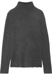 James Perse Cashmere-blend felt turtleneck sweater