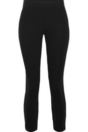 James Perse Cropped stretch-scuba leggings