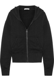 James Perse Cotton-blend jersey hooded top