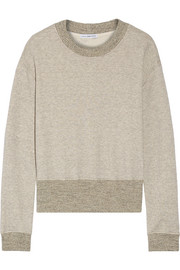 James Perse Cotton-blend terry sweatshirt