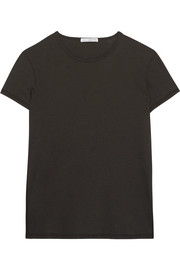 James Perse Zig Zag cotton and wool-blend jersey T-shirt