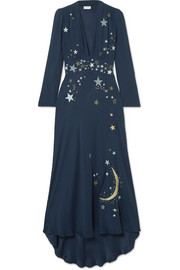 Margo embellished embroidered georgette midi dress