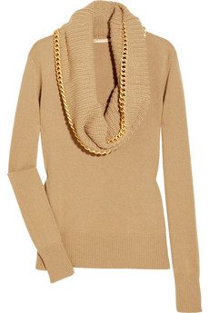 Michael Kors | Chain-embellished cashmere sweater | NET-A-PORTER.COM from net-a-porter.com