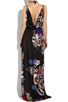 Roberto CavalliBelted print maxi dress