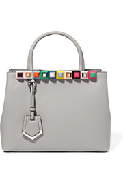Fendi 2Jours small embellished leather tote