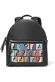 Fendi Sequined shell, leather and mesh backpack