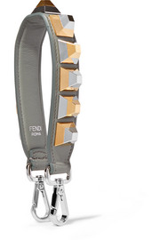 Fendi Studded leather bag strap