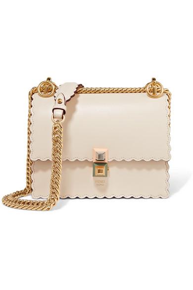 Kan I mini scalloped leather shoulder bag