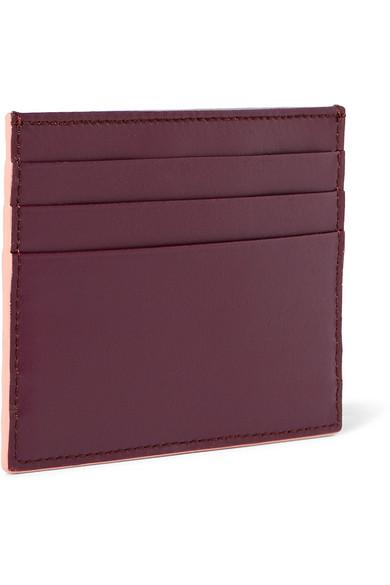 Fendi Nietenbesetztes Kartenetui aus zweifarbigem Leder