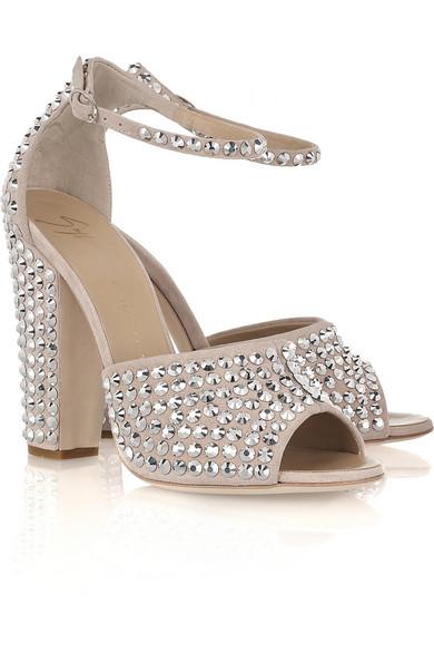 648832af9983 Giuseppe Zanotti. Crystal-embellished suede sandals