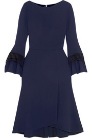 Ulverston macramé lace-trimmed wool-crepe dress