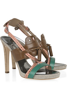 Proenza Schouler | Tassled leather sandals | NET-A-PORTER.COM