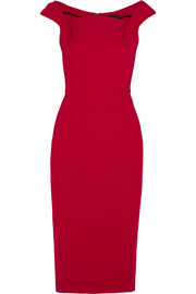 Maltock crepe midi dress