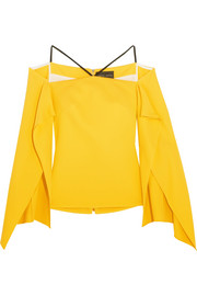 Roland Mouret Frickley off-the-shoulder stretch-crepe blouse