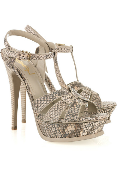 Yves Saint Laurent Tribute Snakeskin Sandals clearance 100% guaranteed outlet exclusive discount shop for 5pNWnodZdI