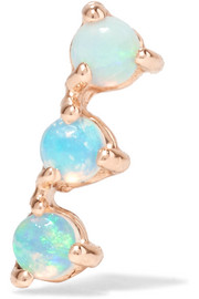 Three Step 14-karat gold opal earring