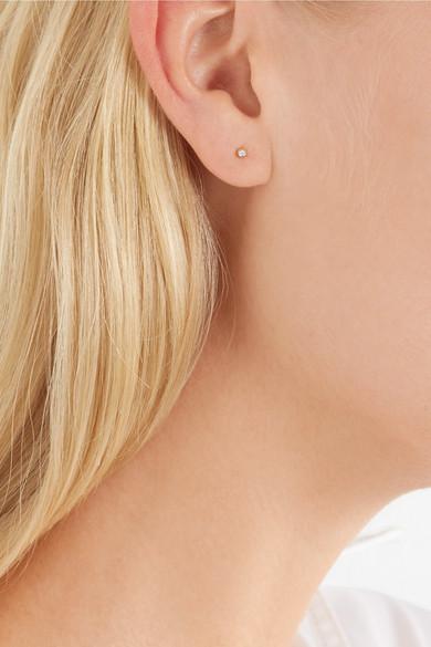 Wwake Nugget 10-karat Gold Diamond Earring TwDWsoc