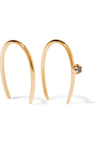 SARAH & SEBASTIAN STONE AURA 14-KARAT GOLD DIAMOND EARRINGS