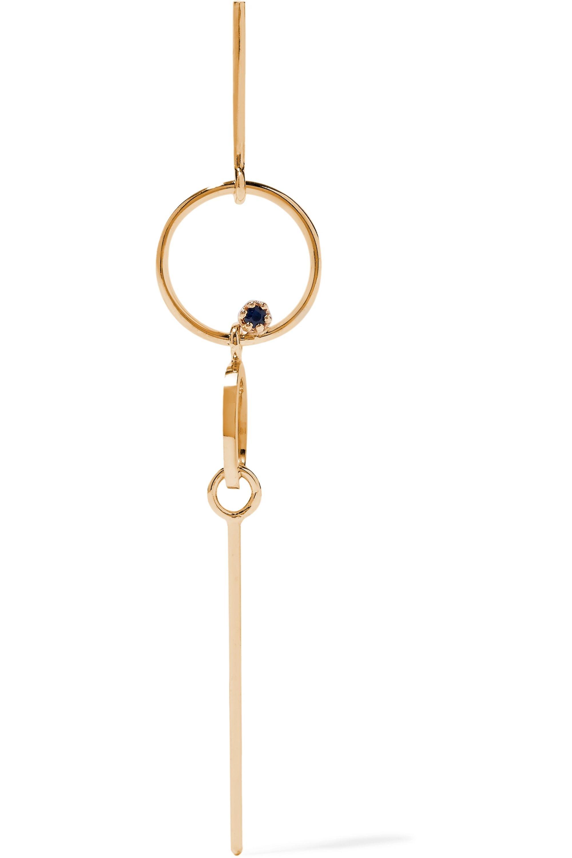 SARAH & SEBASTIAN Long Bubble 14-karat gold sapphire earring