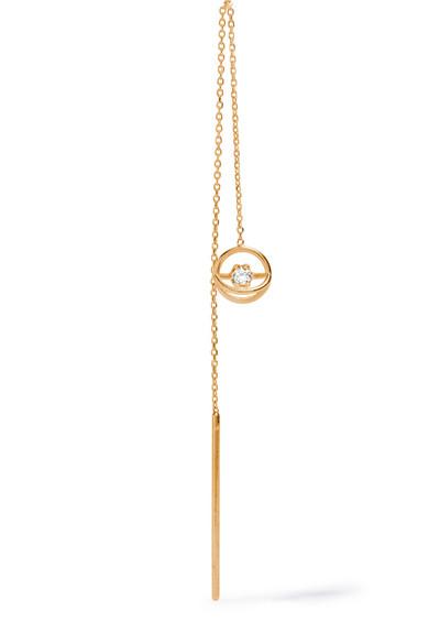 SARAH & SEBASTIAN FOAM CHAIN 14-KARAT GOLD DIAMOND EARRING
