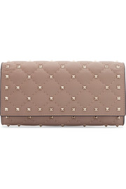 The Rockstud Spike quilted leather wallet
