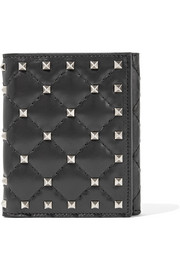 Valentino Garavani The Rockstud Spike quilted leather wallet