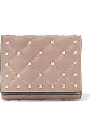 Valentino Rockstud Spike quilted leather wallet