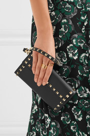Valentino The Rockstud textured-leather wallet