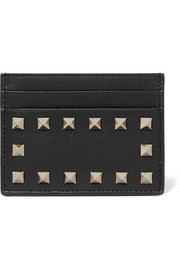 The Rockstud leather cardholder