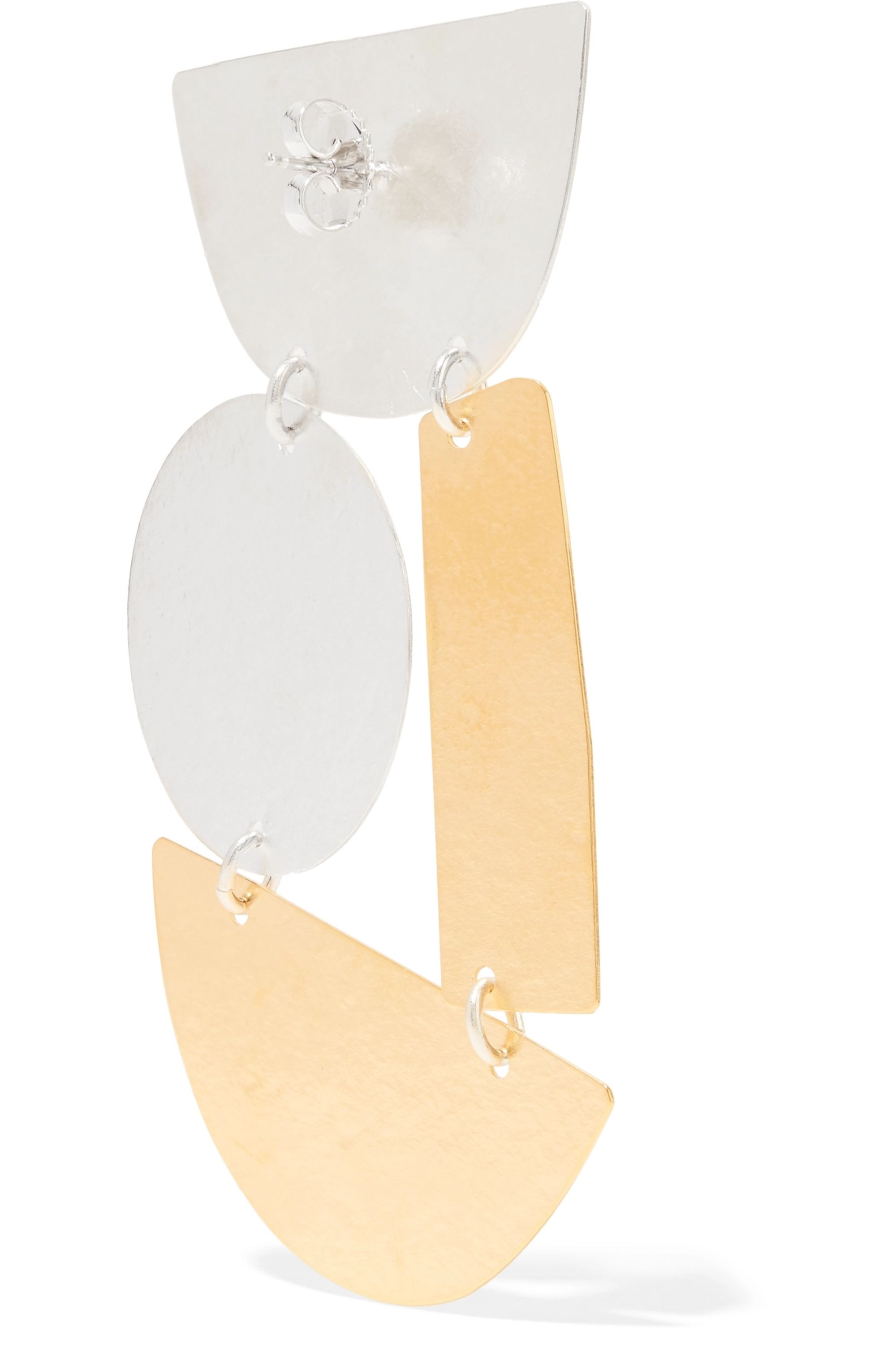 Annie Costello Brown Masha gold and silver-tone earrings