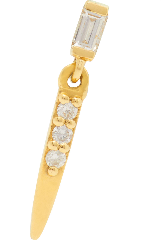 Sansoeurs Sword 18-karat gold diamond earring