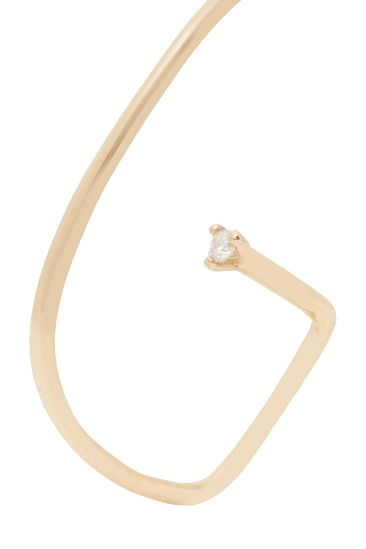 Sansoeurs G 18-karat gold diamond helix earring
