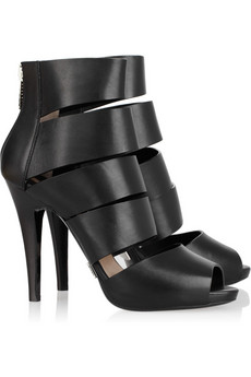 Michael Kors | Strappy leather back-zip sandals | NET-A-PORTER.COM from net-a-porter.com