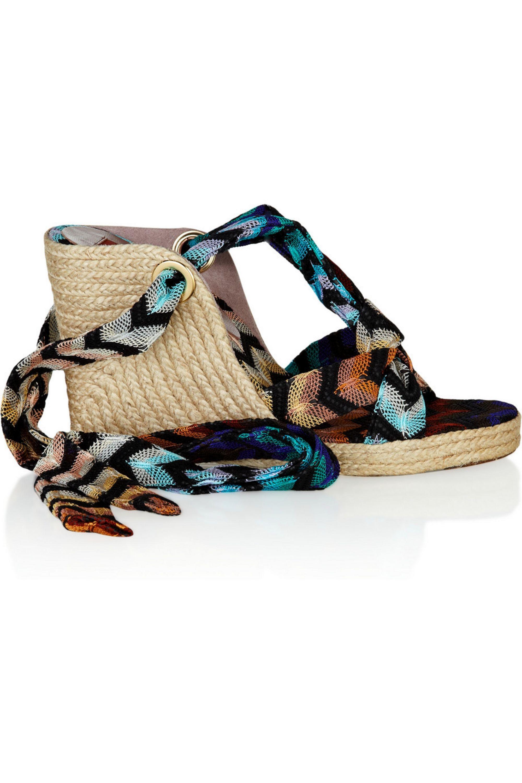 Missoni Crochet-knit espadrille sandals